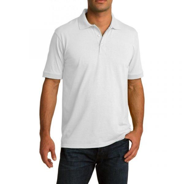 2269c1f9a666 Рубашка поло белая, 190 г/м2