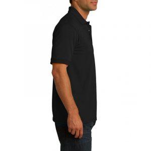 Рубашка поло черная, 200 г/м2