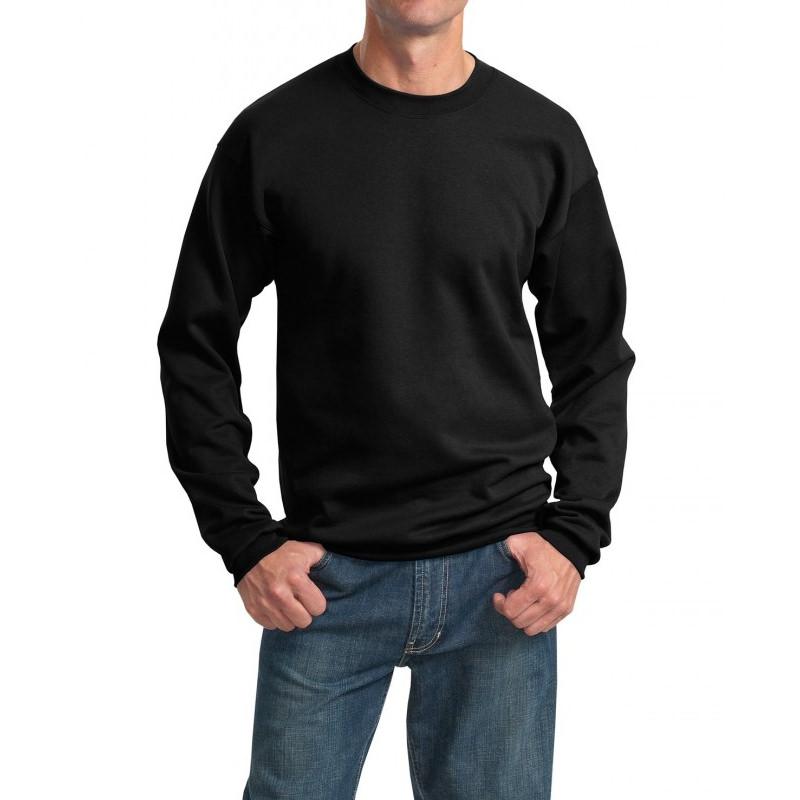 Толстовка без капюшона (свитшот) черная, 260 г/м2