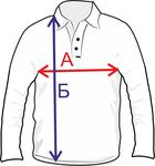 Размеры рубашки поло с рукавом