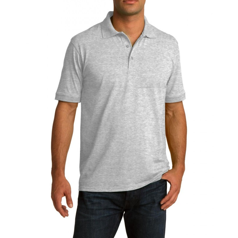 Рубашка поло серая (меланж), 200 г/м2