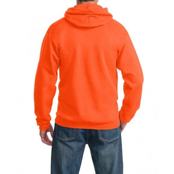 Толстовка с капюшоном оранжевая 340 г/м2