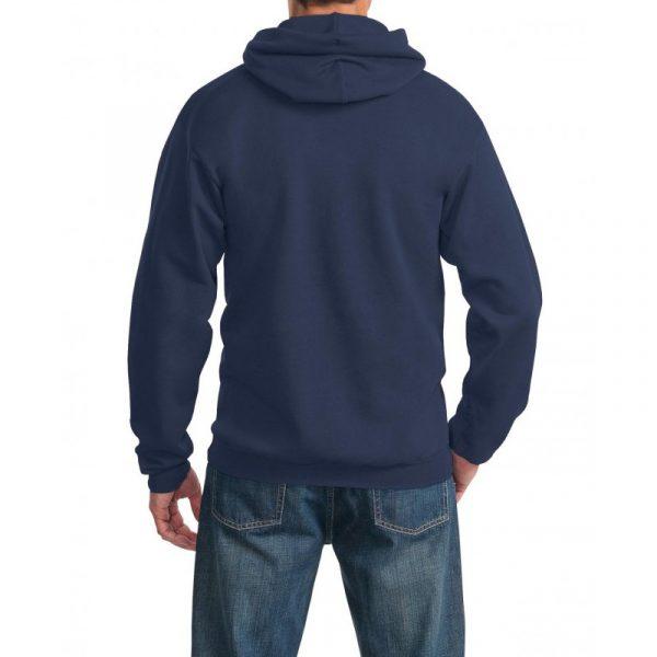 Толстовка с капюшоном темно-синяя, 340 г/м2