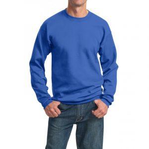 Толстовка без капюшона (свитшот) ярко-синяя, 260 г/м2
