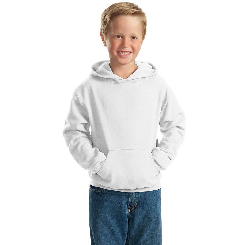 """Детская толстовка """"Кенгуру"""" с капюшоном белая"""