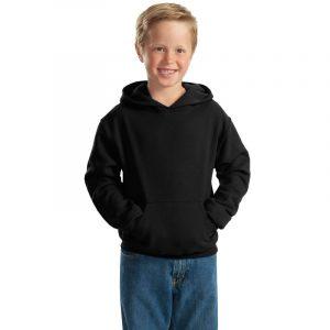 """Детская толстовка """"Кенгуру"""" с капюшоном черная"""