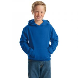 """Детская толстовка """"Кенгуру"""" с капюшоном ярко-синяя"""