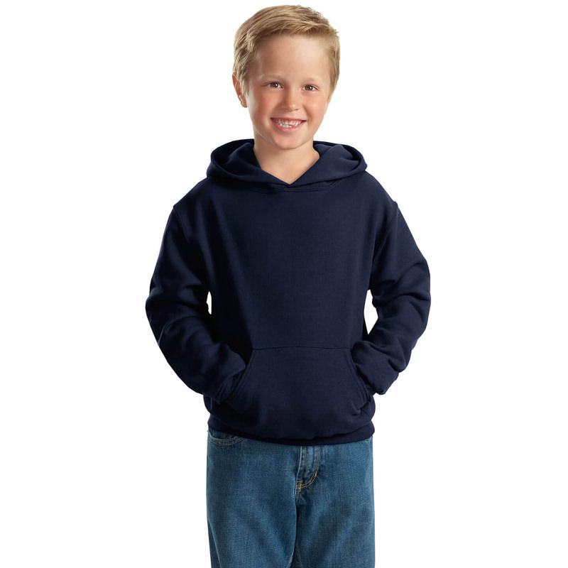 """Детская толстовка """"Кенгуру"""" с капюшоном темно-синяя"""