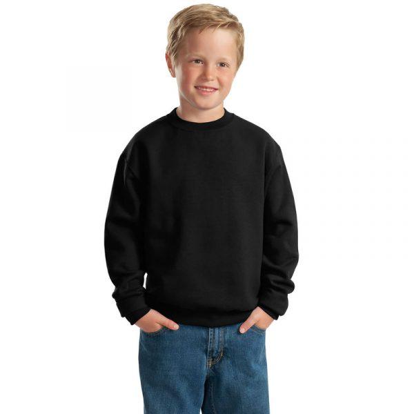 Детская толстовка без капюшона (свитшот) черная
