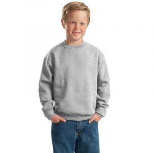 Детская толстовка без капюшона (свитшот) серая (меланж)