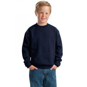 Детская толстовка без капюшона (свитшот) темно-синяя