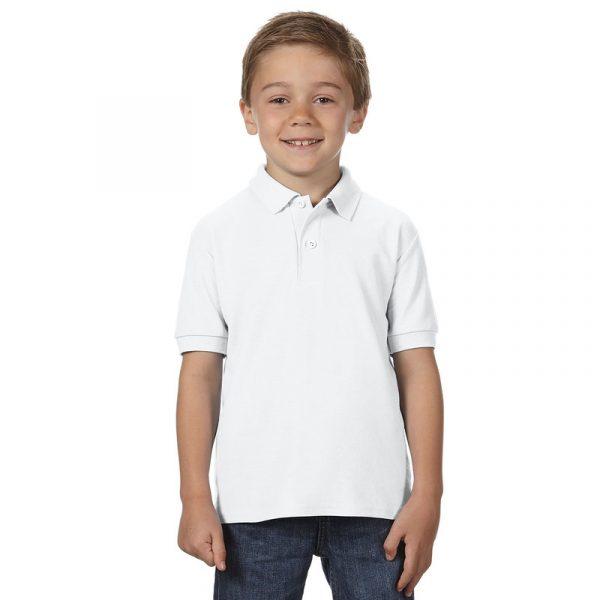 Детская рубашка поло белая