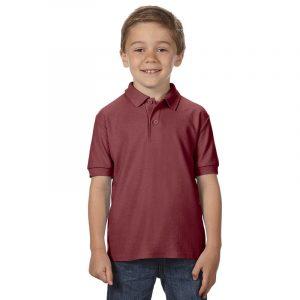 Детская рубашка поло бордовая