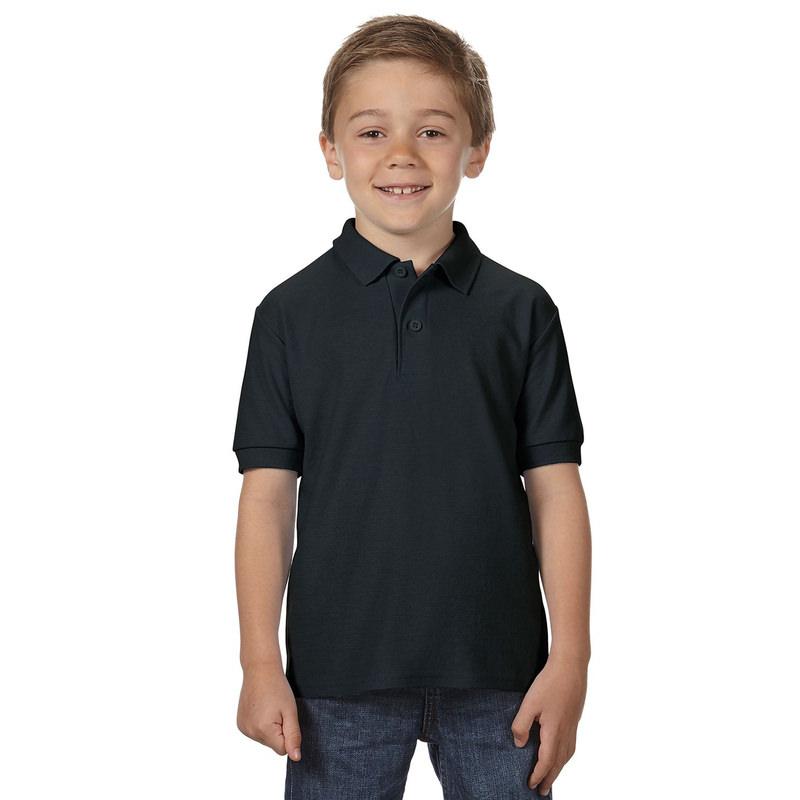 Детская рубашка поло черная