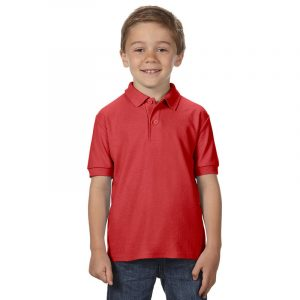 Детская рубашка поло красная