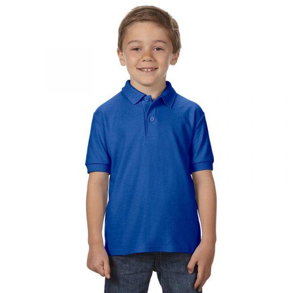 Детская рубашка поло ярко-синяя