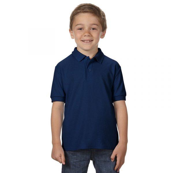 Детская рубашка поло темно-синяя