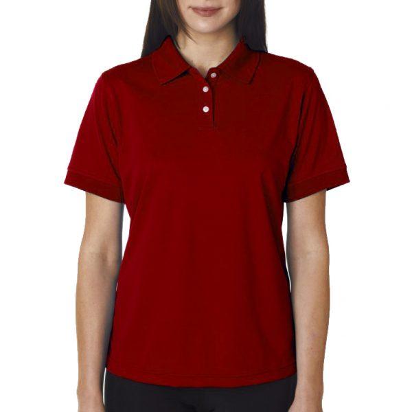 Рубашка поло бордовая