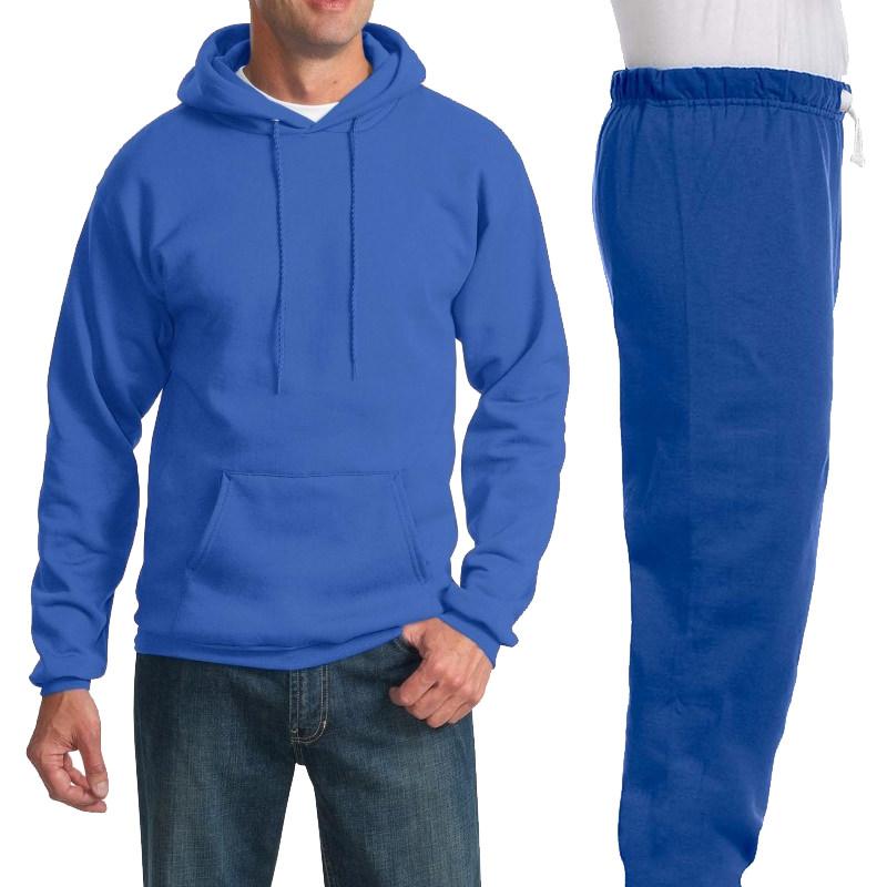 Костюм ярко-синий: толстовка без молнии и спортивные брюки, 320 г/м2