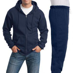 Костюм темно-синий: толстовка на молнии и спортивные брюки, 320 г/м2