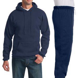 Костюм темно-синий: толстовка без молнии и спортивные брюки, 320 г/м2